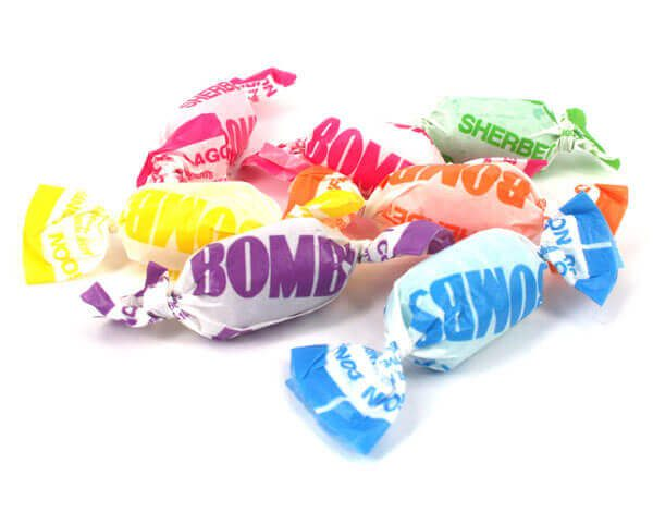 Fruity Sherbet Bombs - Lollies