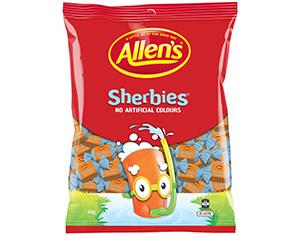 Sherbies – Allen's 850g