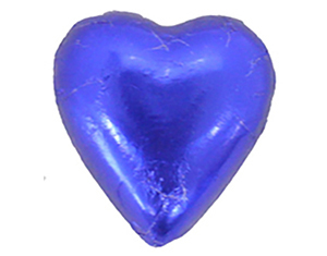 Chocolate Hearts Dark Blue
