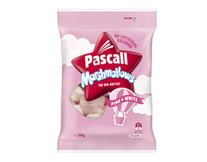 Pascall Marshmallows Pink and White 280g