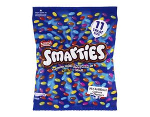 Nestle Smarties Chocolate 11 Piece Fun Pack 140g
