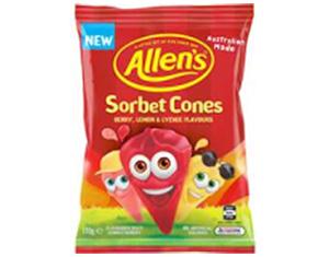Allen's Sorbet Cones 170g